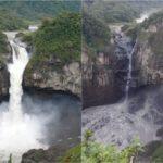 Ecuador perdió su cascada más grande y se nota desde el espacio