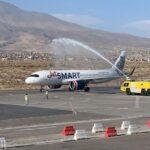 Arequipa: Aterriza primer vuelo internacional tras siete meses y lo reciben con danzas
